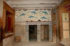 Fresco of the dolphins, Knossos palace- Crete
