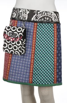 Iris long wrapskirt with pouchbag [IrisLong-v2-27203] - €59,00 : Zand Amsterdam, Unique, colorful, one-size-fits-all wrapskirts and dresses by Yaniv Shapira. Produced fairtrade in India