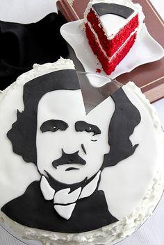 Edgar Allen Poe cake.