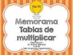 Estupendo y divertido memorama de las tablas de multiplicar | Educación Primaria Multiplication Wheel, Spanish Classroom, Diy And Crafts, Activities, Education, School, F1, Maths, Irene