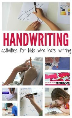 handwriting activities for kids