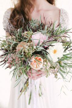 Boho bouquet: http://www.stylemepretty.com/texas-weddings/2014/07/31/rustic-elegant-styled-shoot/ | Photography: Keepsake Films - http://www.keepsakefilms.com/