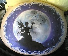 Belly paint - stunning! I love this!