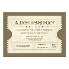 Updated text and formal invitation to follow design inspiration genuine admission ticket invitations stopboris Images
