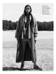 visual optimism; fashion editorials, shows, campaigns & more!: the monochrome set: crista cober by laurence ellis for l'officiel paris october 2014