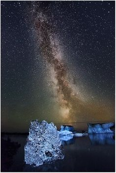 The Milky Way, as seen from Jökulsárlón, Iceland.