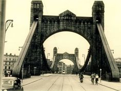 1930,  Most Grunwaldzki Old Pictures, Old Photos, Genius Loci, Vintage Architecture, Kaiser, Brooklyn Bridge, Homeland, Wwii, The Good Place