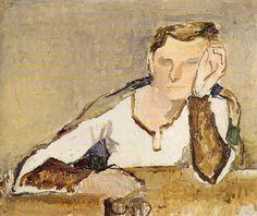 Osvaldo Licini(1894ー1958)「Ritratto di Nanny」(1926)