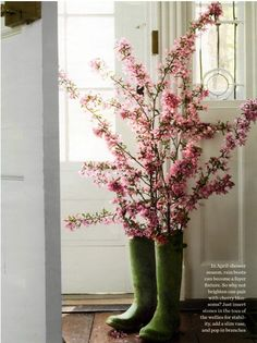 Thinking cowboy boots and rustic spring wedding...eclectic fer sure :) Again, cherry blossom fever...
