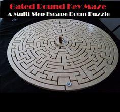 Gated Round Key Maze Escape Room Puzzle - a Multi Step Key Maze Prop - Creative Escape Rooms Escape Room Themes, Escape Room Puzzles, Maze Design, Maze Puzzles, Pop Up Window, Secret Code, The Great Escape, Puzzle Box, Brain Teasers