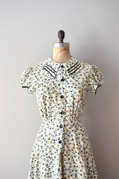 1930s dress / vintage 30s dress