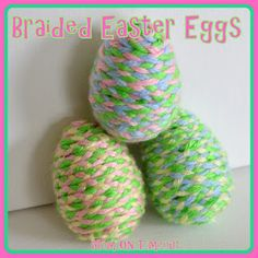 Braided Easter Eggs {Craft} - Mom On Timeout