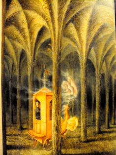 Under the forest canopy. <--Not the title. Remedios Varo.