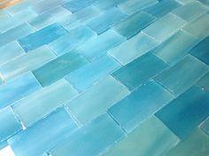 FANTASY CASTLE BLUE Bricks  Small Borders in by StainedGlassLizard, $6.25