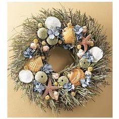 Wind & Weather Seashell Wreath - Home Decor - Coastal Decor