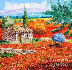Oil Pastels Featured Images - Among the Poppies  by Jean-Marc Janiaczyk