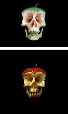 Fruit and Vegetable Skulls by Dimitri Tsykalov | Inspiration Grid | Design Inspiration
