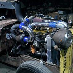 twin turbo rat rod truck