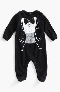 Tuxedo for your little man + easy diaper changes = win #Nordstrom #Weddings