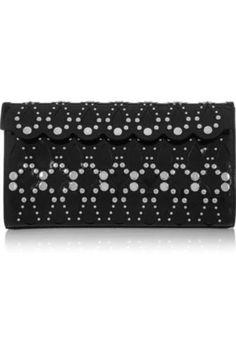 Studded leather clutch #clutch #women #covetme #alaïa