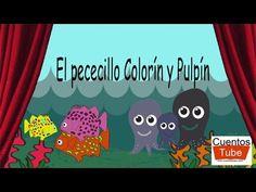 Un pececillo llamado Colorín, y su amigo Pulpín, que era un pulpo muy gracioso, se pierden en el mar y son perseguidos por un fieron tiburón. Logran escaparse y se reúnen con sus papás.