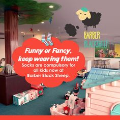 """""""Socks are the dearest to your feet, don't remove them."""", says Barber Black Sheep. Visit: barberblacksheep.in/ #barber #barbershopconnect #barbershop #hairstyles #babyhair #babyhaircut #kidhaircut"""