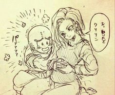 Read Krilin & from the story Dragon ball z by (Gabriela López) with reads. Android 18 And Krillin, Krillin And 18, Dbz Pictures, Dragon Pictures, Dragon Ball Z, Anime Pregnant, Goten Y Trunks, Ashe League Of Legends, Akira