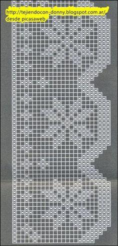 patrones,crochet,ganchillo,esquemas,gráficos,diagramas,mantas,puntillas,puntos para tejer ,grannys,chal,ropa bebé,zapatito bebé ,escarpines, Crochet Curtain Pattern, Crochet Patterns Filet, Crochet Lace Edging, Crochet Curtains, Crochet Borders, Crochet Cross, Crochet Flower Patterns, Crochet Tablecloth, Filet Crochet