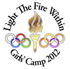 New logo design for LDS (Mormon) girls' camp for this summer. For Anna and her camp this year...