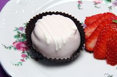 "Strawberry Cream Cakery Kisses with melt in your mouth.  We know you will be saying ""yum"" with every bite!"