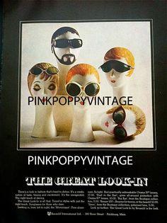 SALE 50 PERCENT OFF Vintage Bazaar Magazine May 1968 Fashion Ad Sunglasses on Etsy, $9.00