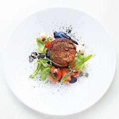 Leg of lamb , mediterranean vegetables, puree of sobrasada, zucchini, rosemary jus, basil, light garlic creme ,black olives soil & sun dried tomato | Flickr - Photo Sharing!
