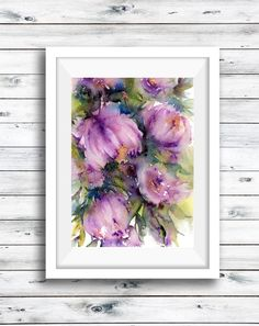 Excited to share the latest addition to my #etsy shop: Rose art print, original watercolor painting, flower print, giclée print, Lavender Roses, botanical art, modern florals, floral art wall art https://etsy.me/2Ht6EJN
