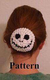 Jack Skeleton Bun Cover pattern