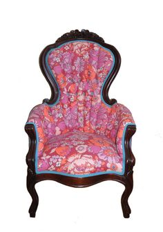 Refurbished Victorian Upholstered Arm Chair