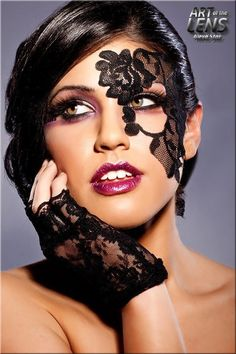 face shot, i love the mask masquerade lace look awesome