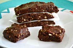 """HOT FUDGE """"LARA BARS"""" ... just made them and they were super easy and chocolatey! This blog has tons of awesome recipes."""