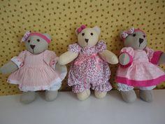 ursinhas de tecido