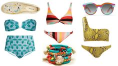 Rainbow Beach: The Colourful Bikini Edit - Bikinis and Bibs, Swimsuits, Bikinis, Swimwear, Rainbow Beach, Bikini Beach, Bibs, Model, Color, Fashion
