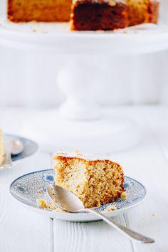 ... ricotta and polenta cake ...