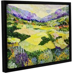 ArtWall Allan Friedlander Cool Grass Gallery-Wrapped Floater-Framed Canvas, Size: 36 x 48, Pink
