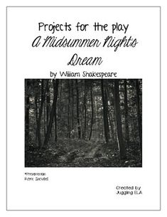 Unit Test with Answer Key for A Midsummer Night's Dream by