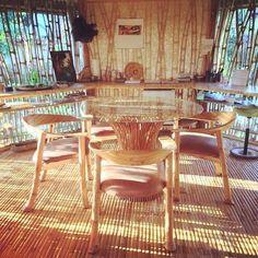Bamboo furniture at home in Bali from #IBuku designs.