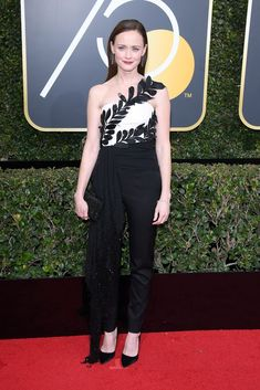 """A majority of actresses opted to wear all-black ensembles to the Golden Globes in support of the """"Times Up"""" movement. See all the looks here."""