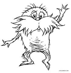 the lorax coloring pages offer children with a playful canvas to breathe life into the protagonist of the celebrated dr