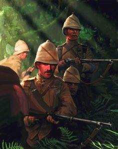 British infantry patrol