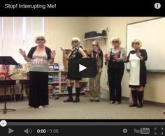Do you have a problem with kids interrupting you? You'll love this blog post with a funny teacher video called Stop Interrupting Me!