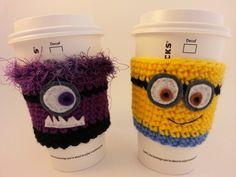 Minion Coffee Cozy by Green4Keeps on Etsy $10.00.   Ooo Ooo Ooo, me me me!