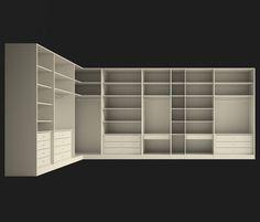 Life box A spacious, complete walk-in wardrobe in an L shape Wardrobe Design Bedroom, Walk In Wardrobe, Bedroom Wardrobe, Modern Wardrobe, Bedroom Cupboard Designs, Bedroom Cupboards, Walk In Closet Design, Closet Designs, Ideas De Closets