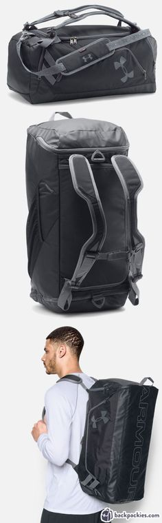 Under Armour Duffle Backpack - Best backpack for crossfit - Find more backpacks for the gym at https://backpackies.com/blog/best-crossfit-backpack